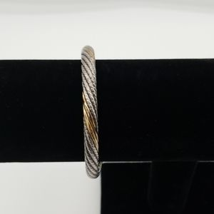 Silver and gold plated cuff bracelet Brighton
